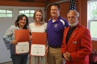 Madison Colahan with parents and Lion's Club member Bill Decker